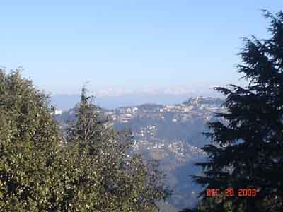 shimla view from Tara Devi temple