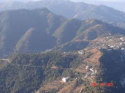 valley view from Tara Devi temple shimla