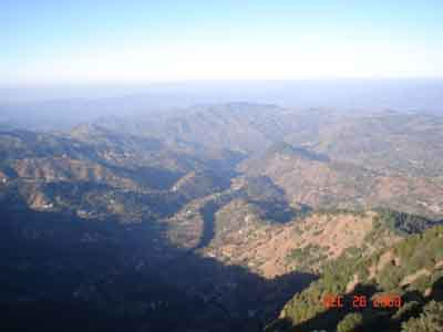 valley views from Taradevi Temple Shimla