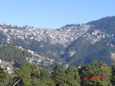 shimla from a distance