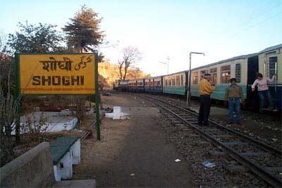 view of shoghi railway station