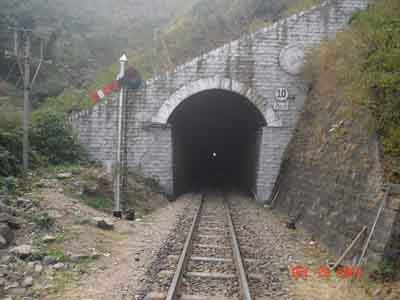 Tunnel on the Kalka Shimla railway line