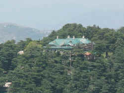 chail palace as seen from the cricket ground