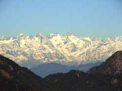 lower himalayas as viewed from Narkanda