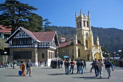 State library and the Church on the ridge Shimla